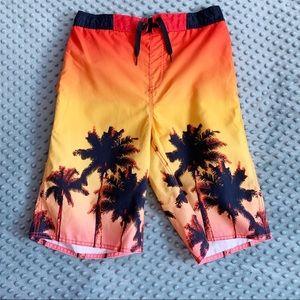 Boys Old Navy Palm Tree Swim Trunks